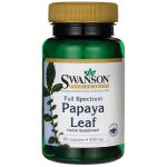 Swanson Premium Full Spectrum Papaya Leaf 400 mg 60 Caps Digestive Health and Fiber