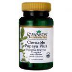 Swanson Premium Chewable Papaya Plus 90 Chewables Digestive Health and Fiber