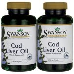Swanson Premium Cod Liver Oil 350 mg 500 Soft Gels Essential Fatty Acids