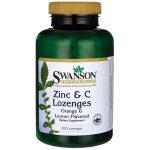Swanson Premium Zinc & C Lozenges 200 Lozenges Vitamin C Immune Support