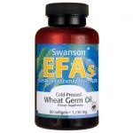Swanson EFAs Cold-Pressed Wheat Germ Oil 1,130 mg 60 Soft Gels Essential Fatty Acids