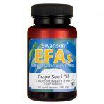 Swanson EFAs Grape Seed Oil 500 mg 60 Liquid Caps Essential Fatty Acids