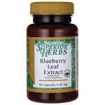 Swanson Superior Herbs Blueberry Leaf Extract 60 mg 90 Caps Herbs and Supplements
