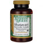 Swanson Superior Herbs Shatavari Ayurvedic Female Rejuvenator 500 mg 120 Caps Herbs and Supplements