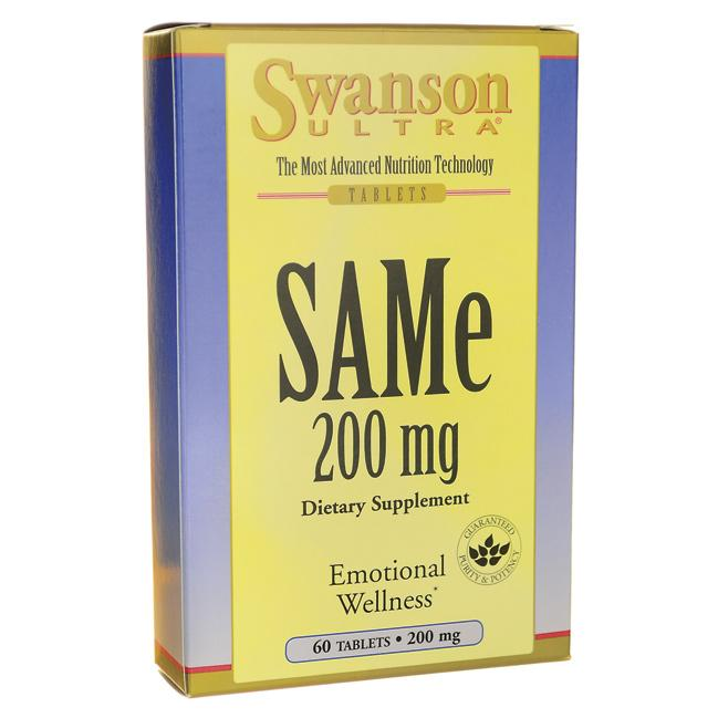 Swanson Ultra Same 200 mg 60 Tabs Stress and Mood | 24