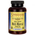 Swanson Ultra Albion Chelated Multi-Mineral without Iron 120 Caps Health Minerals