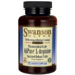 Swanson Ultra Ajipure L-Arginine Sustained-Release Tablet 1,000 mg 90 Tabs Amino Acids