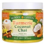 Sunny Green Turmeric Coconut Chai 5.68 oz Powder Digestive Health and Fiber