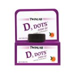 Twinlab D3 Dots 2000 Iu 2,000 Iu 100 Tabs Bone Health