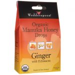 Wedderspoon Organic Manuka Honey Drops – Ginger with Echinacea 4 oz Package Immune Support