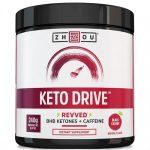 Zhou Keto Drive – Black Cherry 8.47 oz Powder Health and Weight Loss